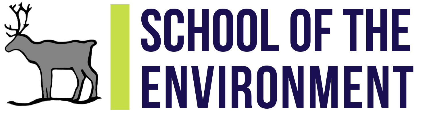 School of the the Environment logo with caribou drawing.